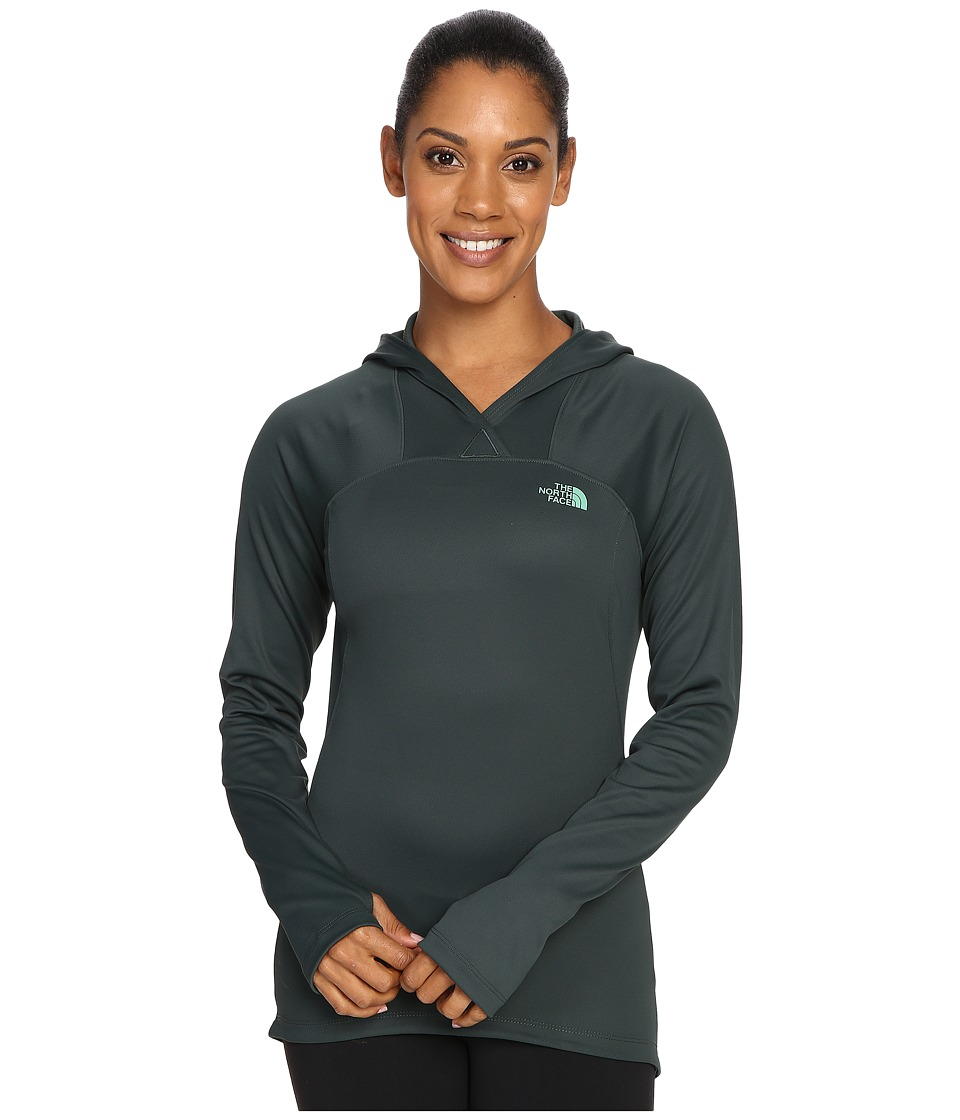 The North Face - Any Distance Hoodie (Darkest Spruce) Women's Sweatshirt