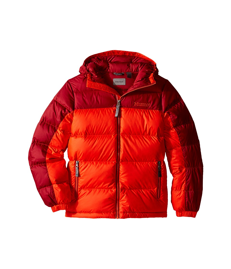 Marmot Kids - Guides Down Hoody (Little Kids/Big Kids) (Mars Orange/Brick) Boy's Coat