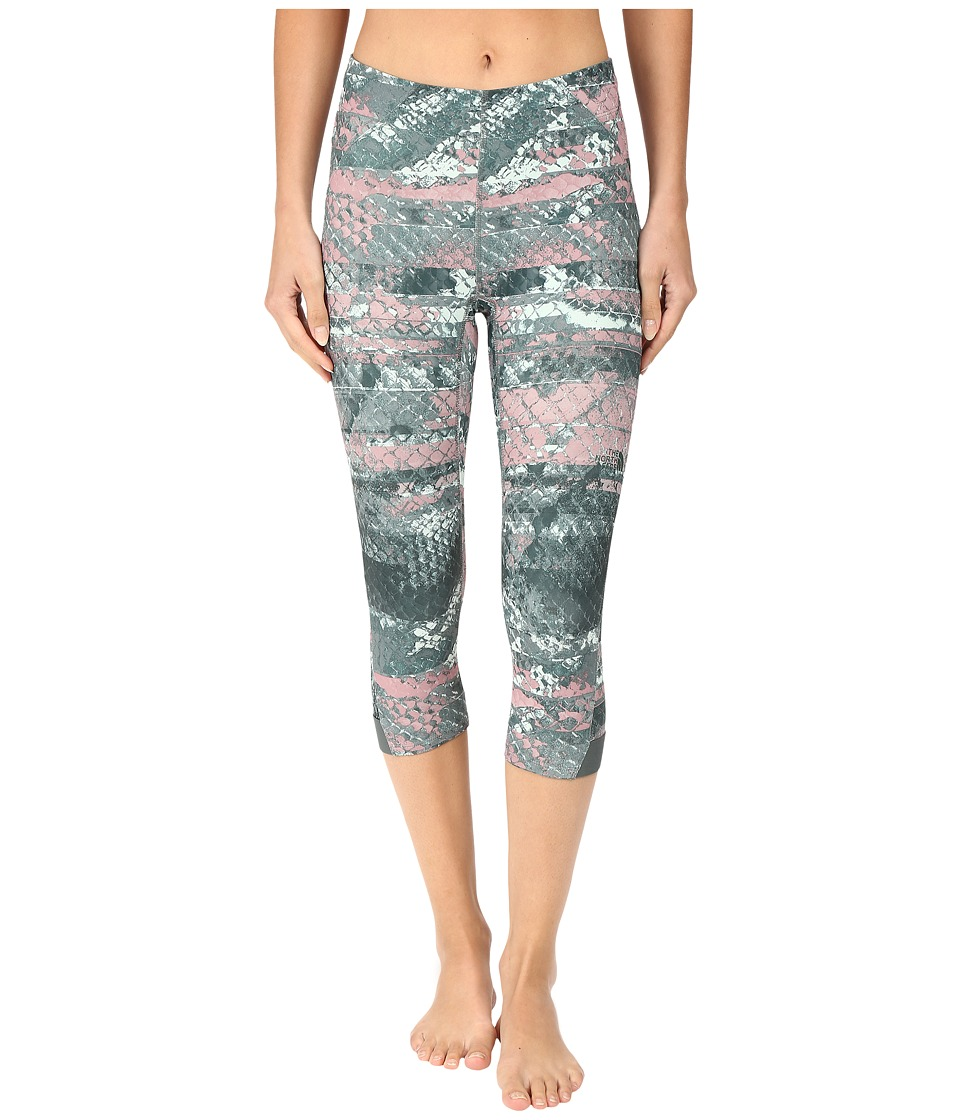 The North Face Motus Capri Tights II (Balsam Green Reptile Print (Prior Season)) Women