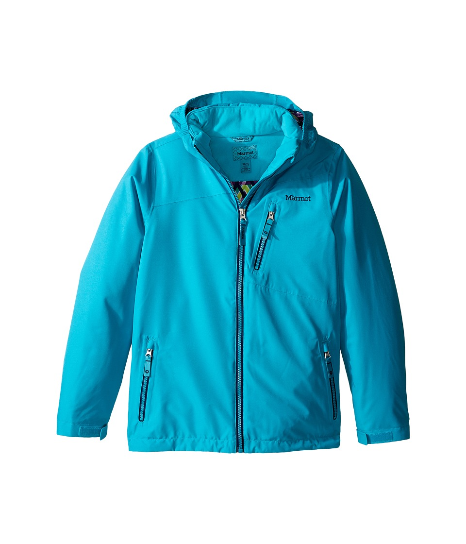 Marmot Kids - Free Skier Jacket (Little Kids/Big Kids) (Turquoise) Girl's Coat