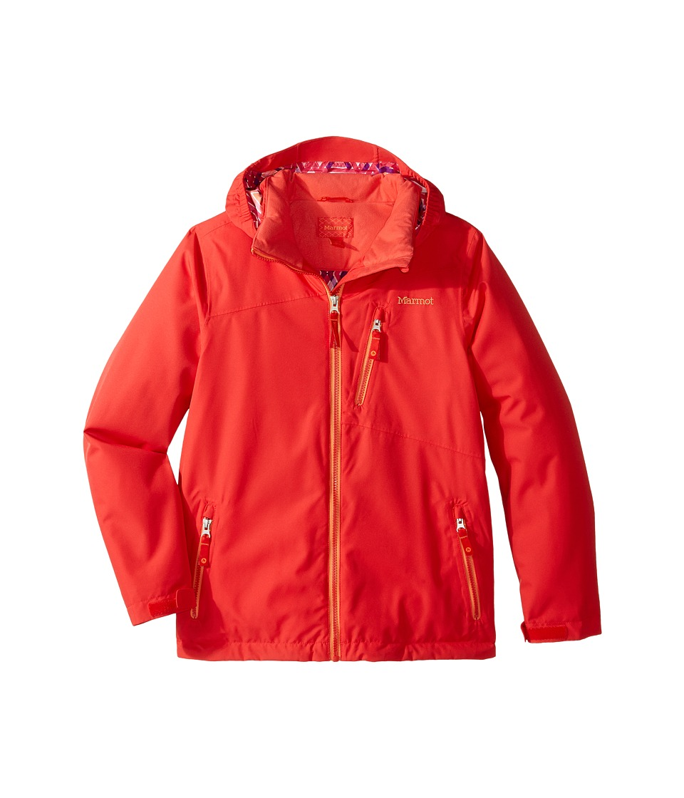 Marmot Kids - Free Skier Jacket (Little Kids/Big Kids) (Scarlet Red) Girl's Coat
