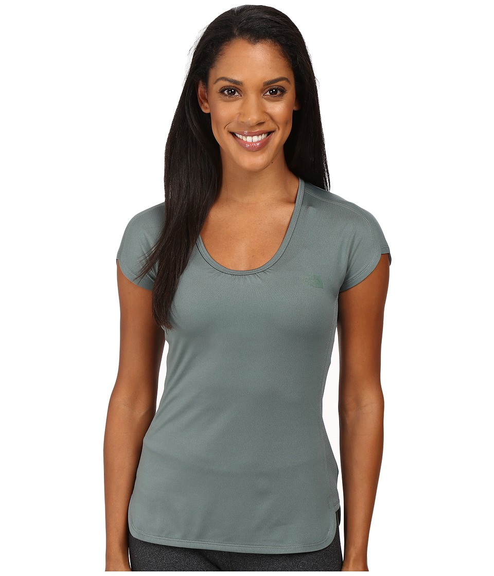 The North Face - Initiative Short Sleeve (Subtle Green) Women's Short Sleeve Pullover