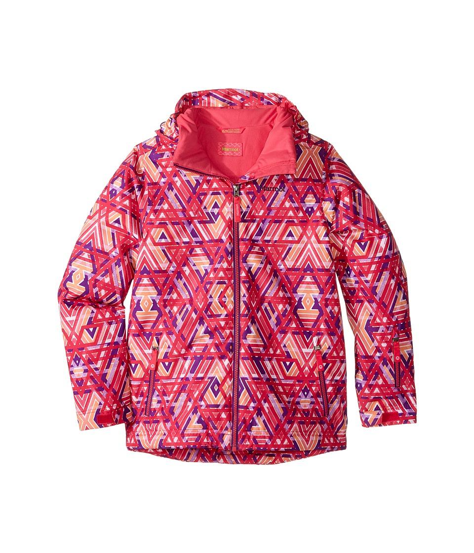 Marmot Kids - Big Sky Jacket (Little Kids/Big Kids) (Pink Lotus Geo) Girl's Coat