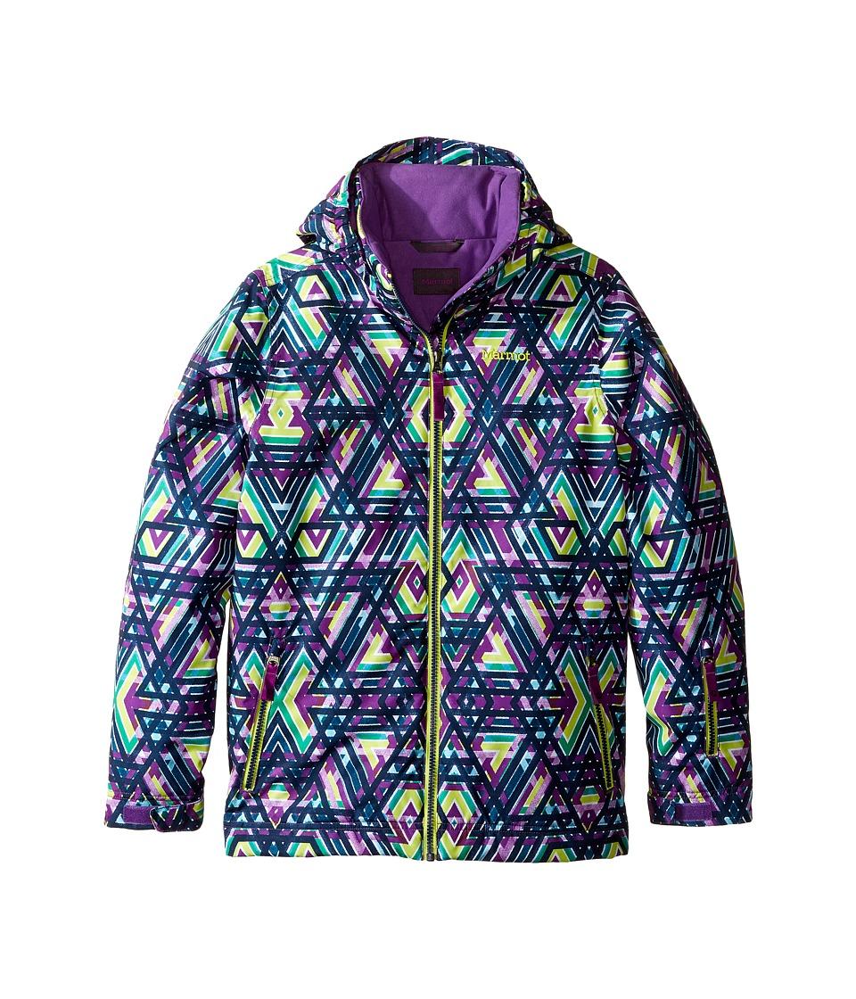 Marmot Kids - Big Sky Jacket (Little Kids/Big Kids) (Mystic Purple Geo) Girl's Coat