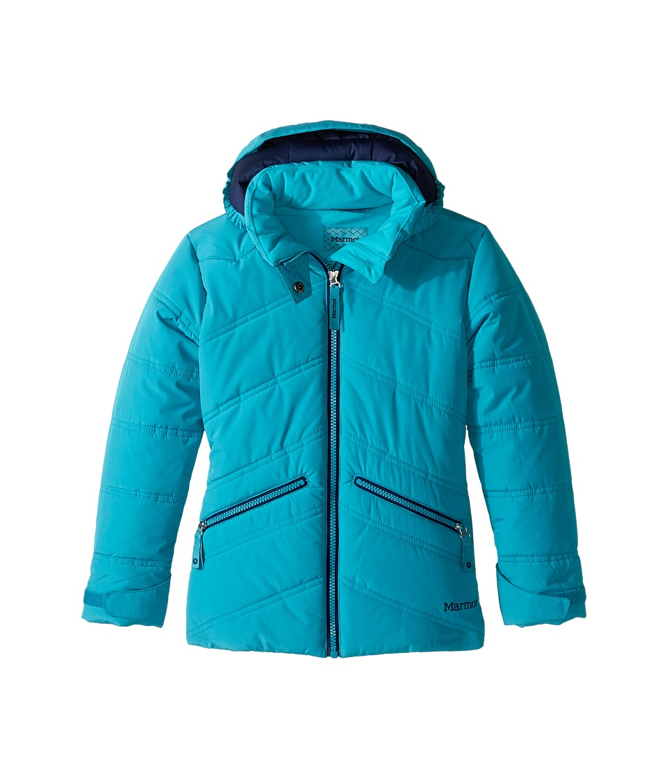 Marmot Kids - Val D'Sere Jacket (Little Kids/Big Kids) (Turquoise) Girl's Coat