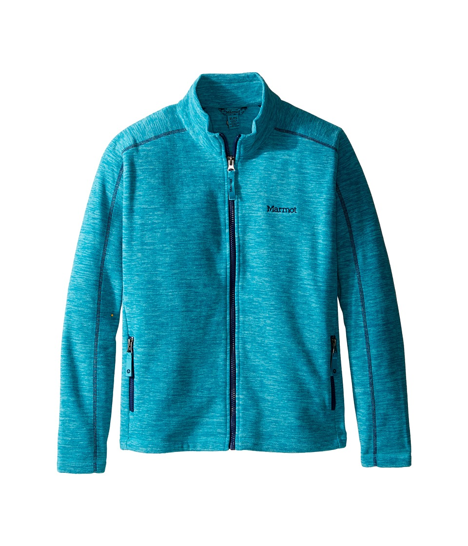 Marmot Kids - Lassen Fleece (Little Kids/Big Kids) (Turquoise) Girl's Fleece