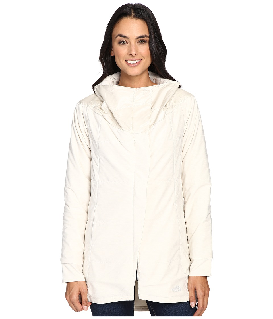 The North Face - Long Pseudio Jacket (Moonlight Ivory Heather/Moonlight Ivory) Women's Coat