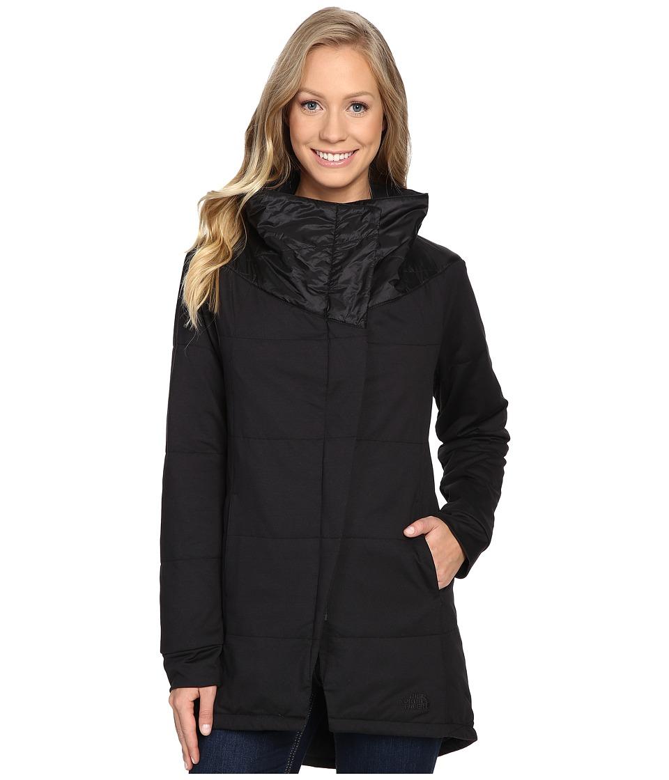 The North Face - Long Pseudio Jacket (TNF Black/TNF Black) Women's Coat