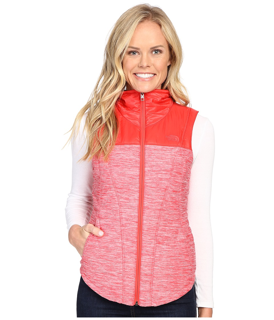 The North Face - Pseudio Vest (Melon Red Heather/Melon Re...