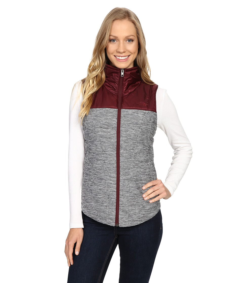 The North Face - Pseudio Vest (TNF Medium Grey Heather/Deep Garnet Red) Women's Vest