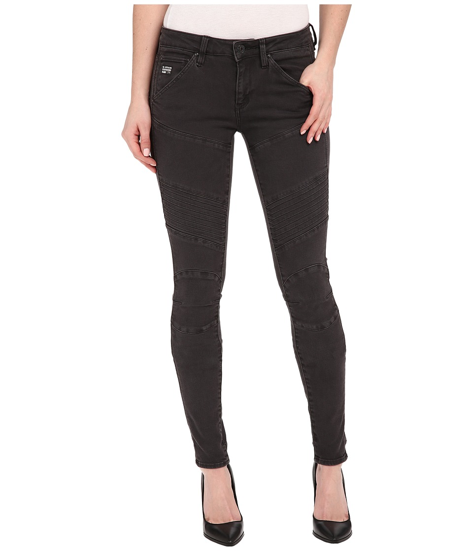 G-Star - 5620 Custom Mid Skinny Fit Jeans in Slander Superstretch Overdye (Crieff/Black) Women's Jeans