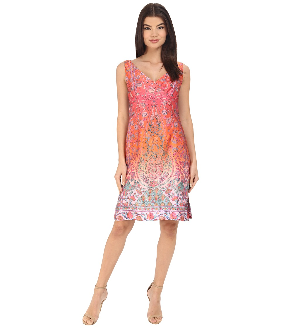 Nanette Lepore Sweet Jane Shift Dress (Coral Multi) Women