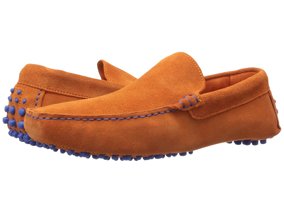 Dune London - Bermuda (Orange Suede) Men's Slip on Shoes