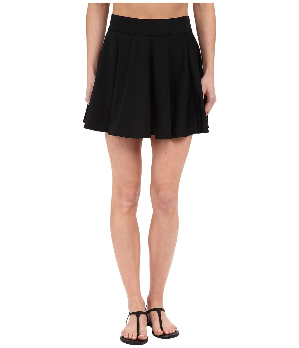 DKNY - Street Cast Solids Skirt Cover-Up (Black) Women's Skirt