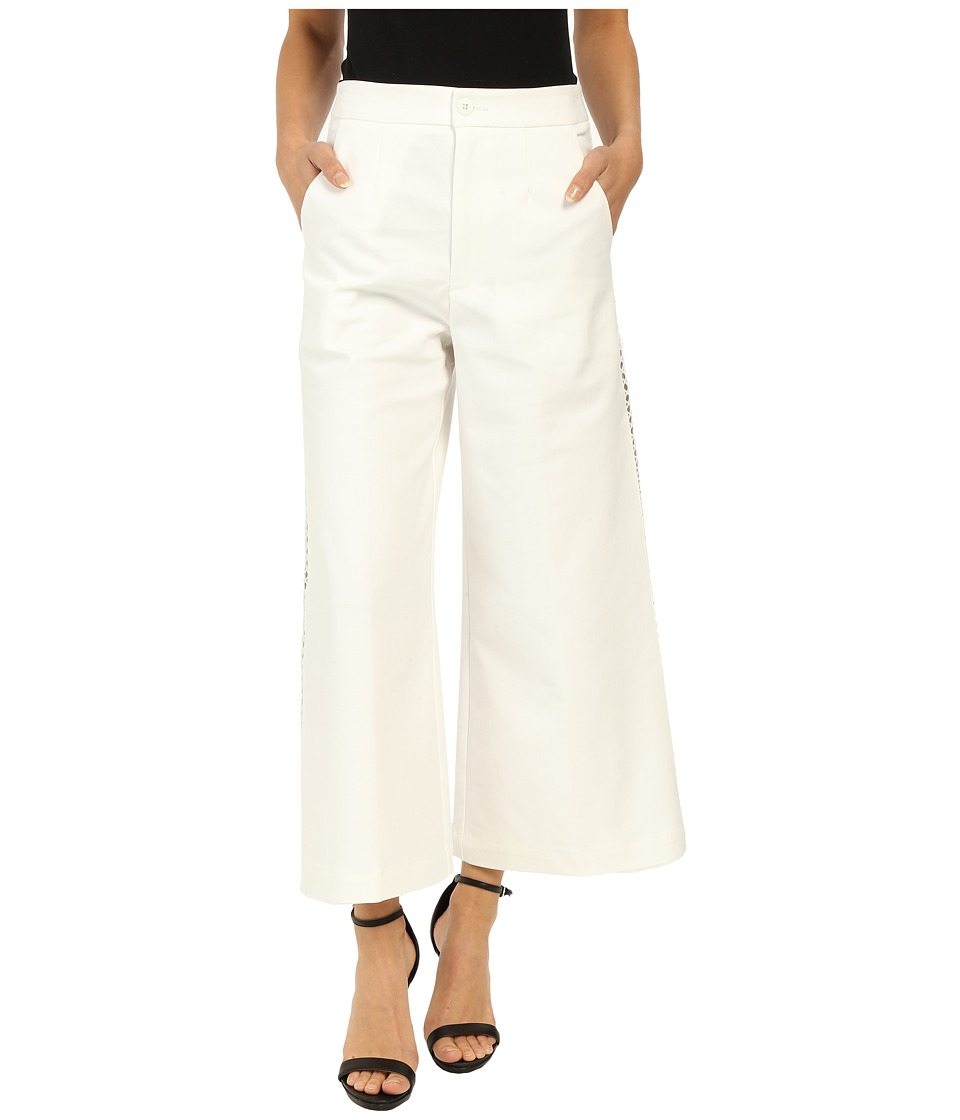 Nanette Lepore - Wild Wide-Leg Pants (White) Women's Casual Pants