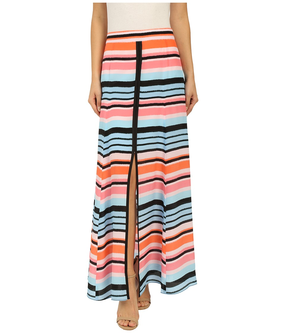 Nanette Lepore - Candy Stripe Skirt (Coral Multi) Women's Skirt