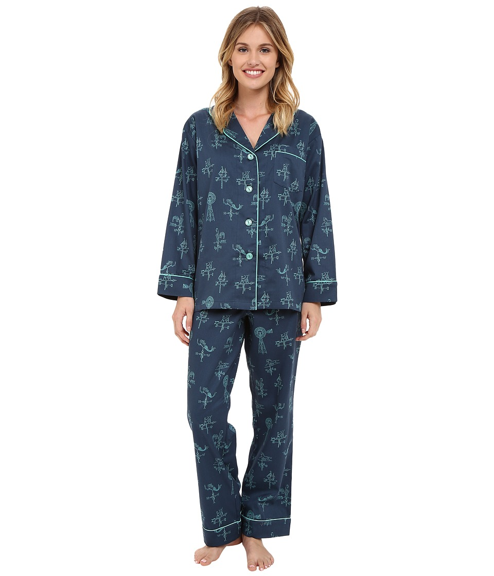 BedHead - Long Sleeve Classic PJ Set (Weather Vanes) Women's Pajama Sets