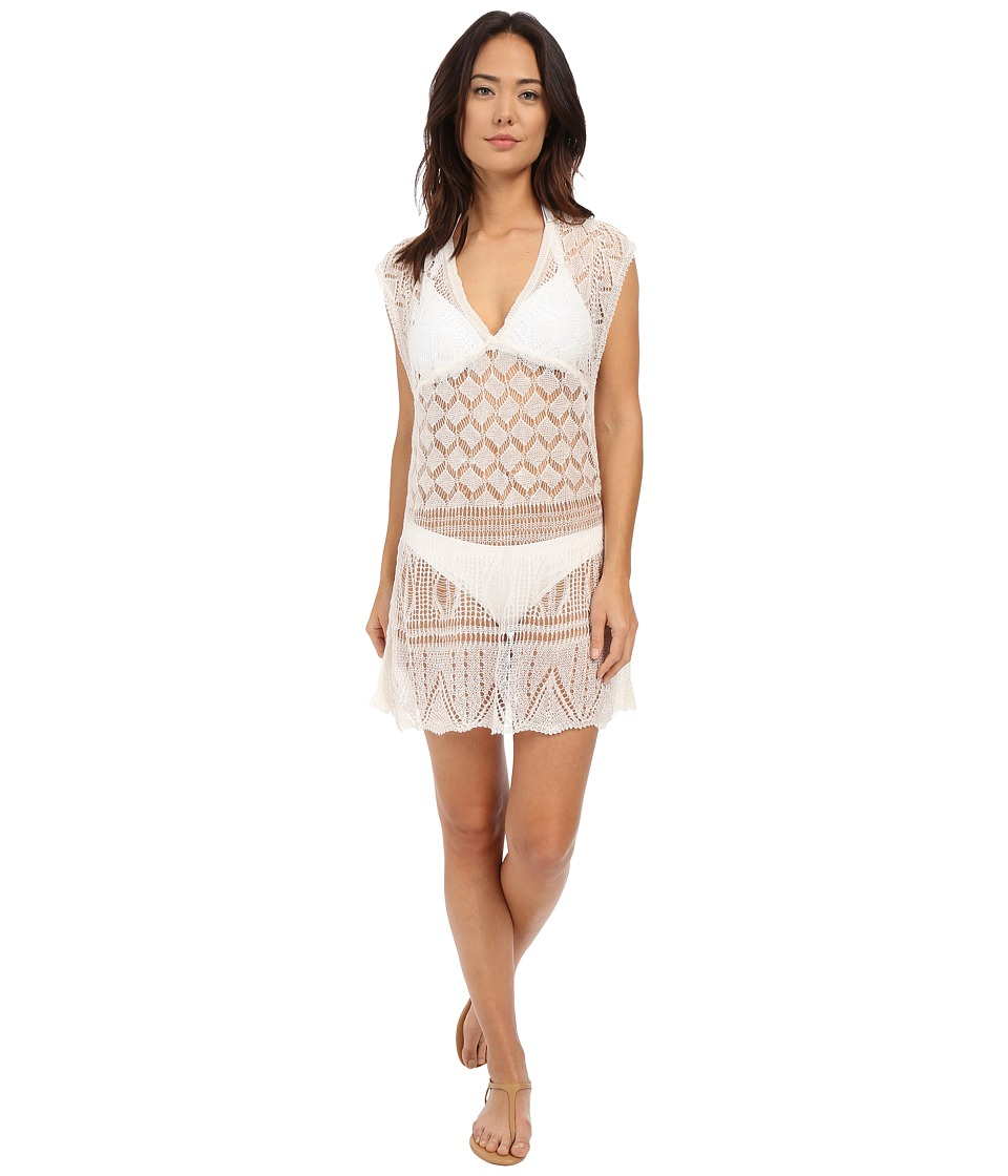 Red Carter - Neo Bohemia Knited Dress Cover-Up (Cream) Women's Swimwear