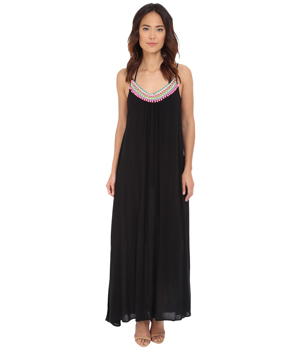 Red Carter Splice Dice Maxi Dress Cover-Up (Black) Women