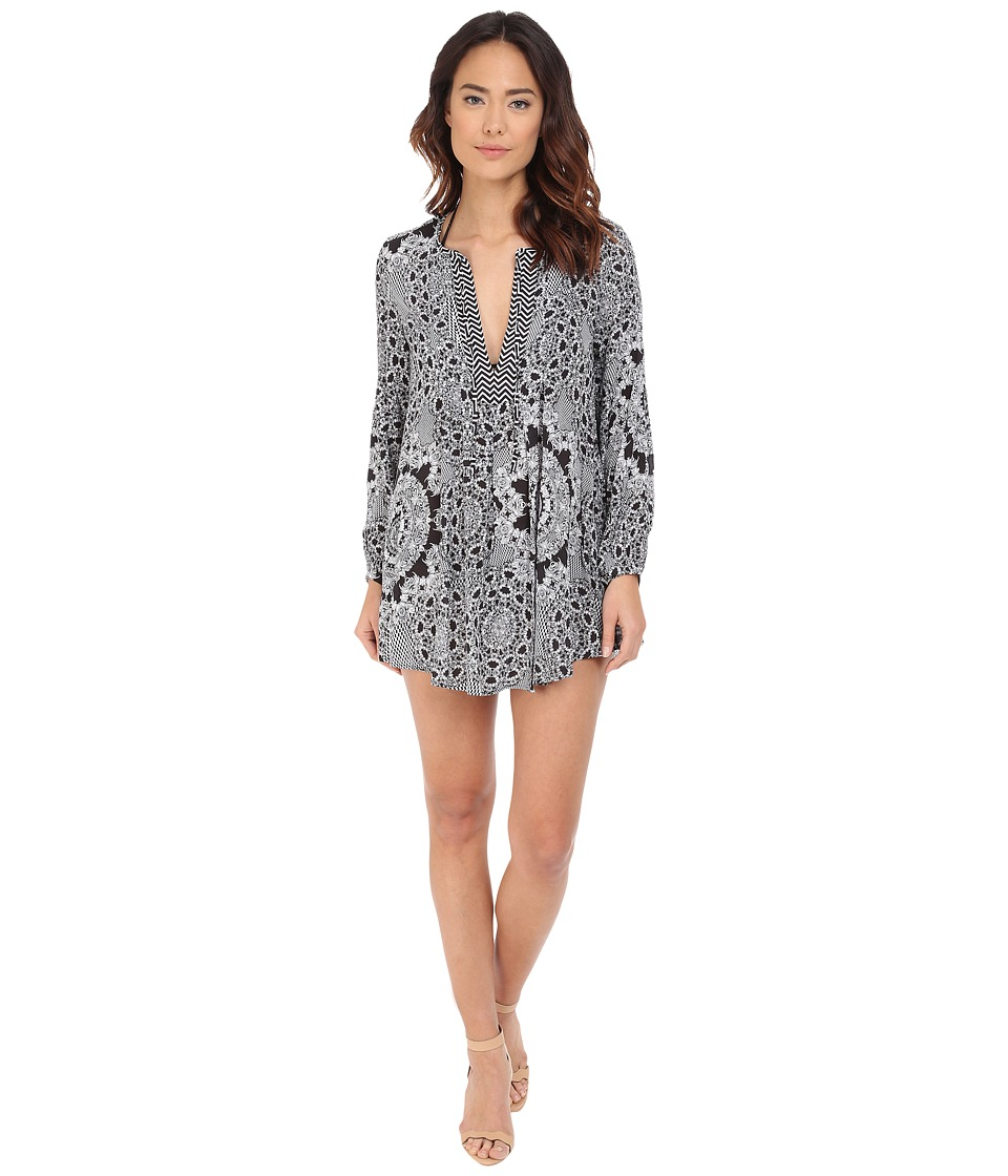 Red Carter - Medallion Shirtdress Cover-Up (Black Multi) Women's Swimwear