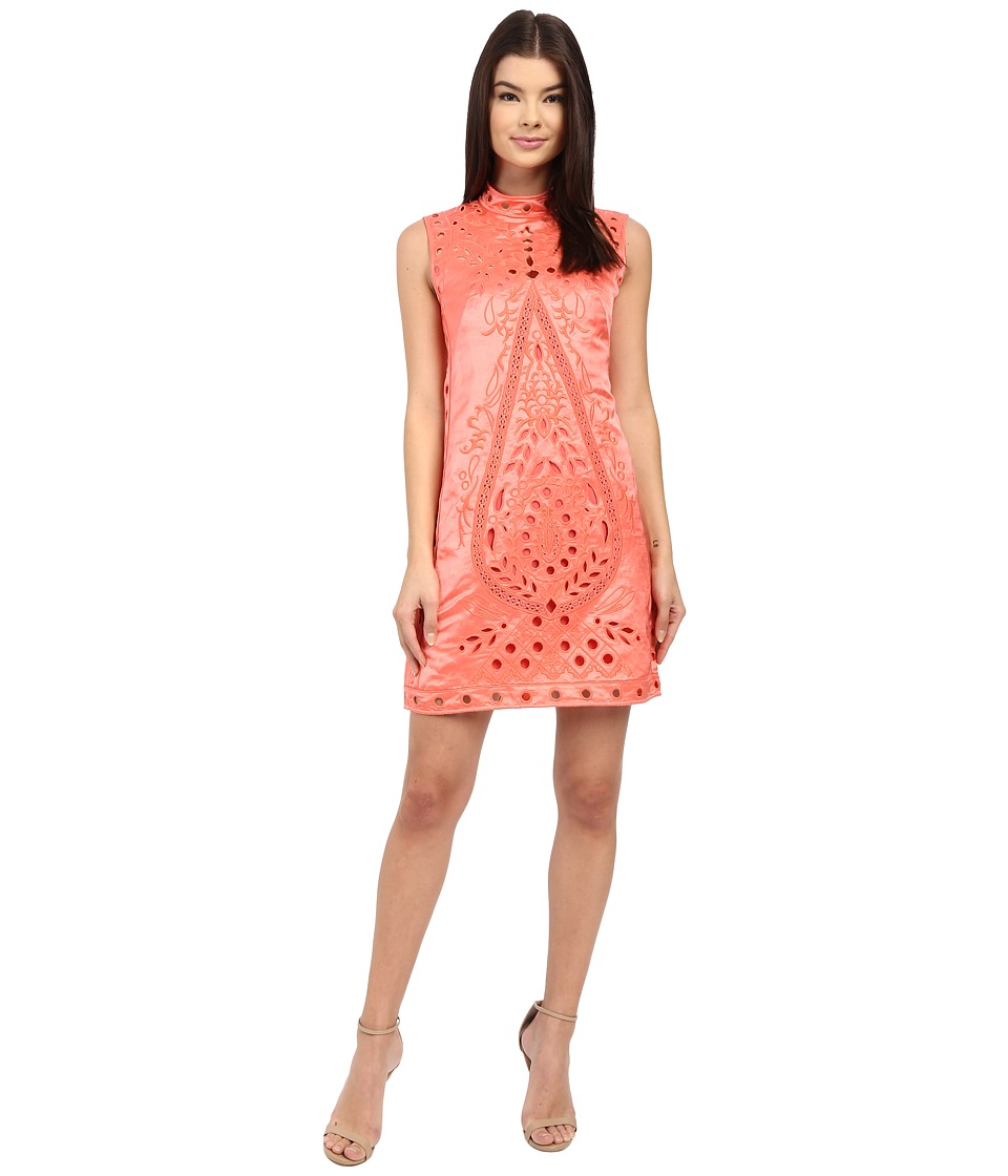 Nanette Lepore - She's My Muse Dress (Coral) Women's Dress