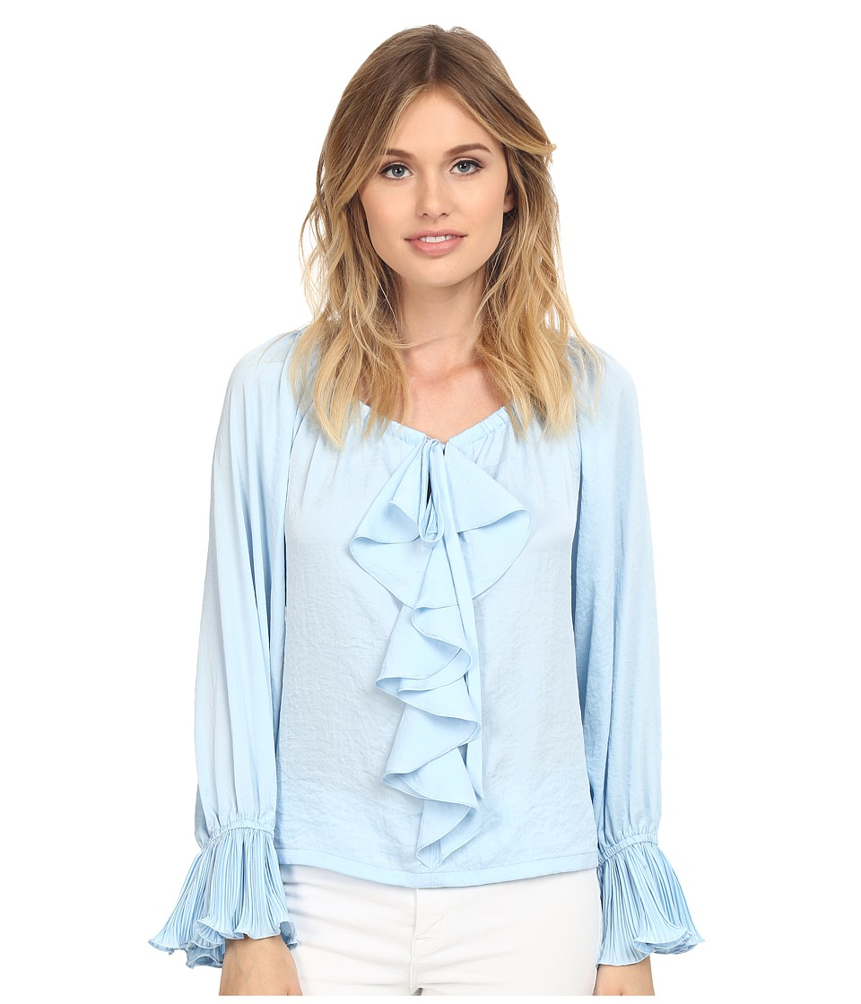 Nanette Lepore - Party Pleats Top (Icy Blue) Women's Clothing