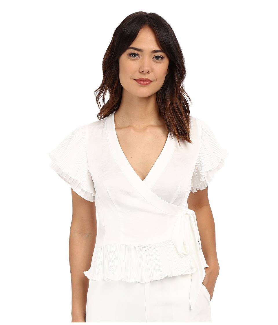 Nanette Lepore - Two-Step Wrap Top (White) Women's Clothing