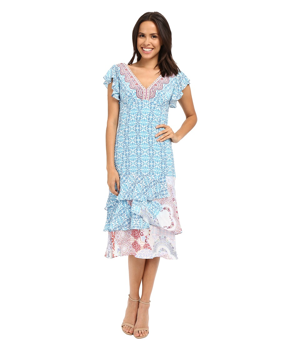 Nanette Lepore Picturesque Dress (Light Blue Multi) Women