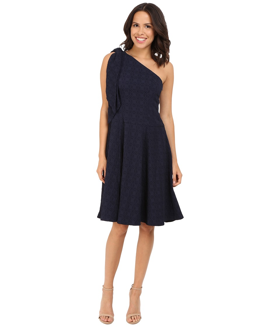 Nanette Lepore - Soiree One-Shoulder Dress (Navy) Women's Dress