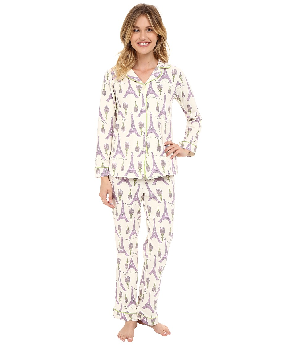 BedHead - Classic Stretch PJ Set (Lavender Eiffel) Women's Pajama Sets