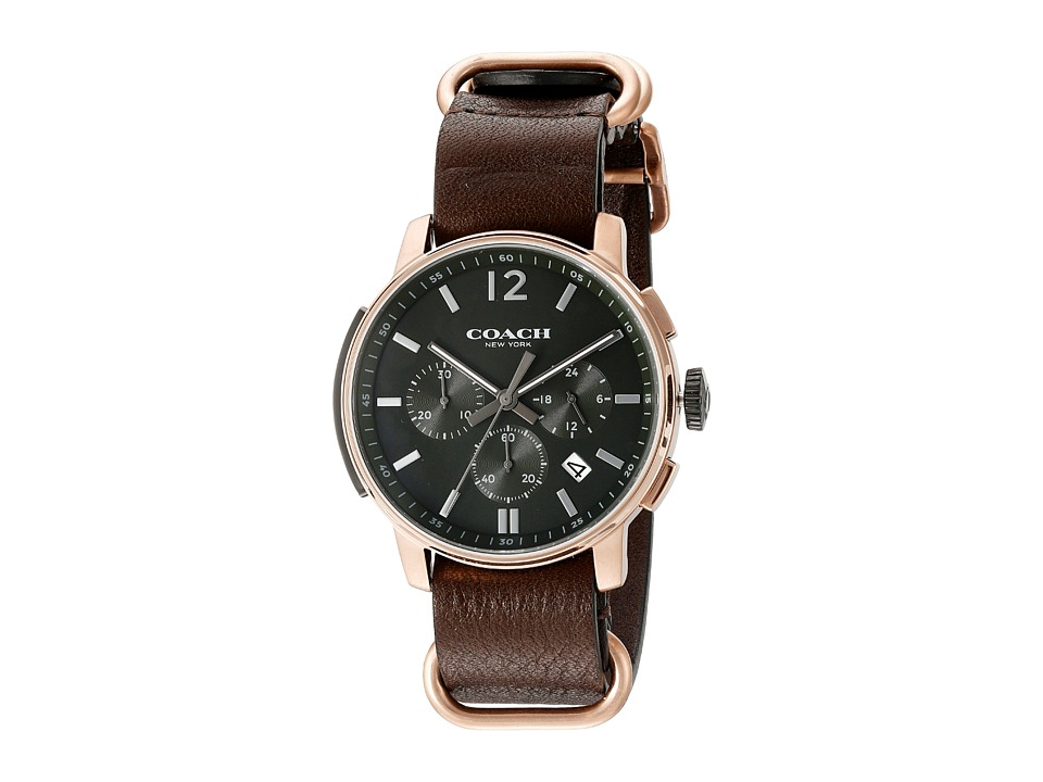 COACH - Bleecker Chrono Nato Strap (Dark Grey Sandblast) Watches