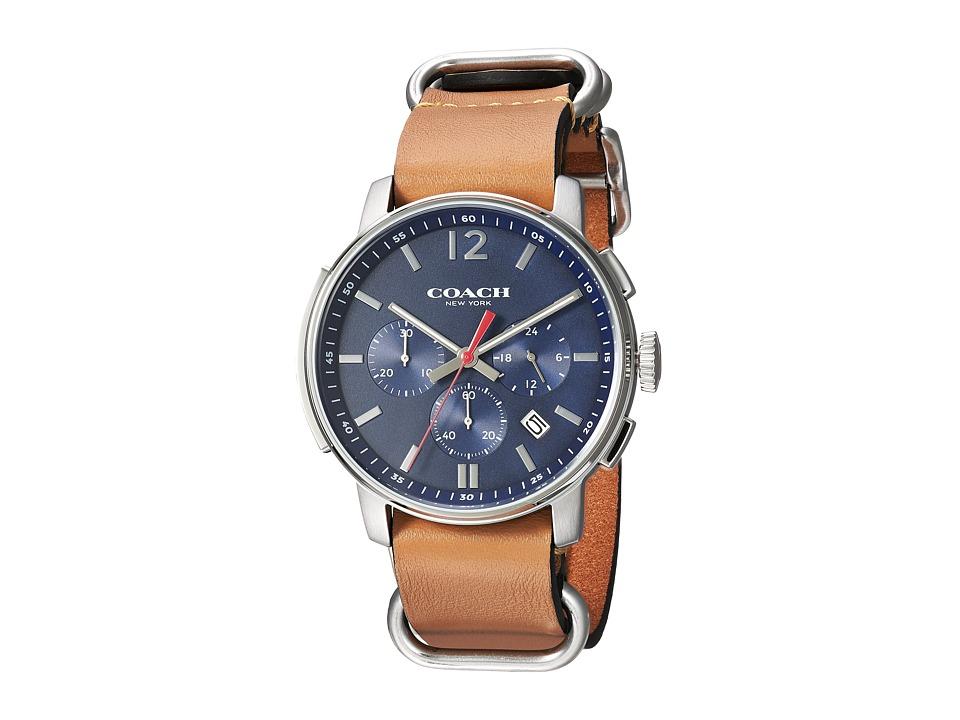 COACH - Bleecker Chrono Nato Strap (Matte Navy) Watches