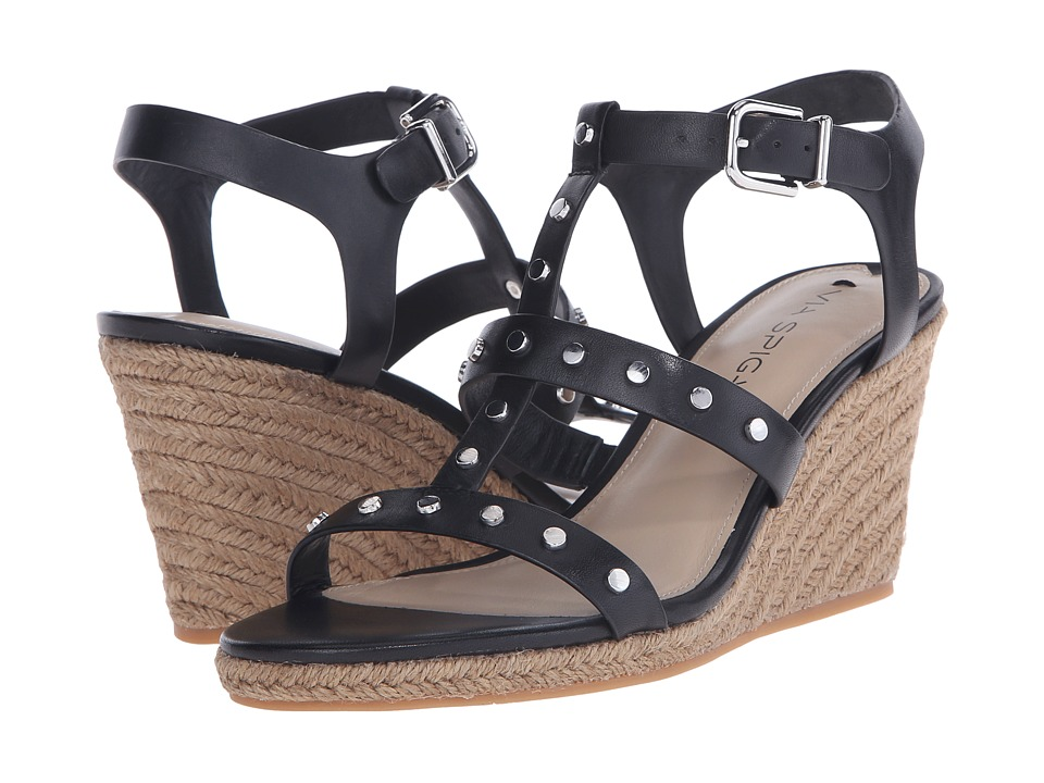 Via Spiga - Indya (Black) Women's Wedge Shoes