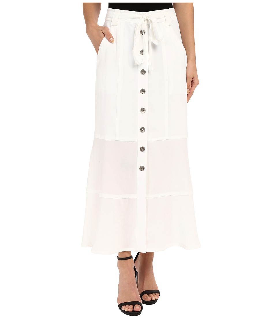 Nanette Lepore - Pocket Front Skirt (White) Women's Skirt