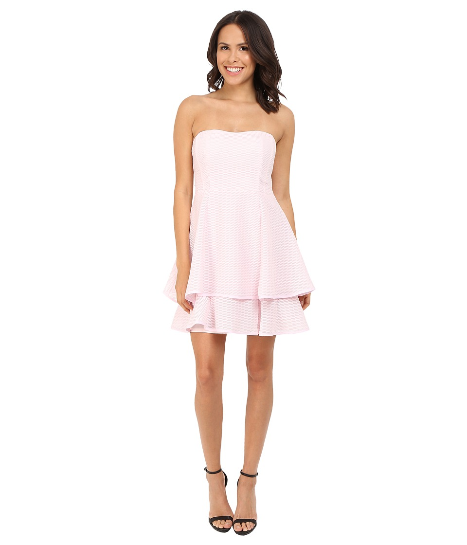 Nanette Lepore - Tie-Back Tier Dress (Pearl Pink) Women's Dress