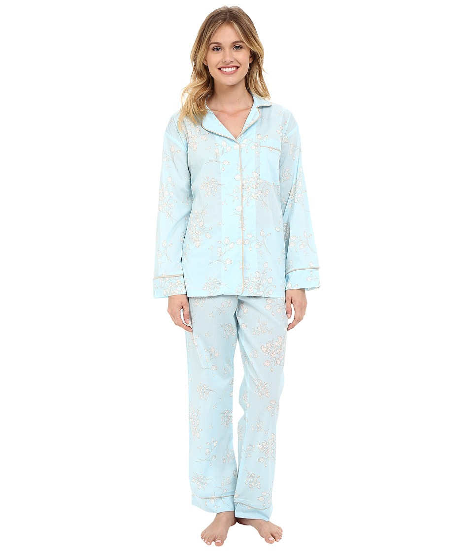BedHead - Classic Pajamas Voile (Blue Flower Bouquet) Women's Pajama Sets