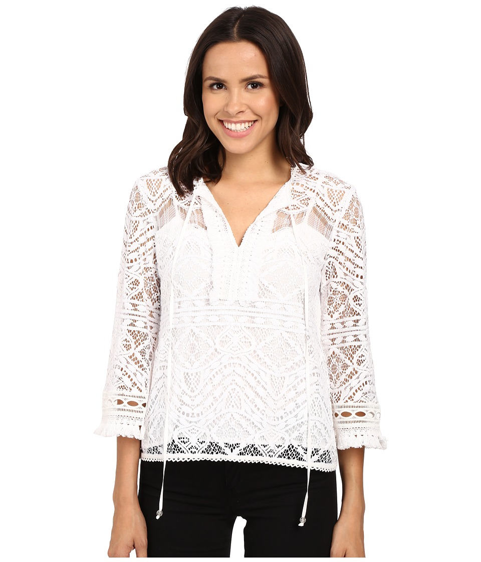 Nanette Lepore - Delicate Lace Top (Ivory) Women's Sweater