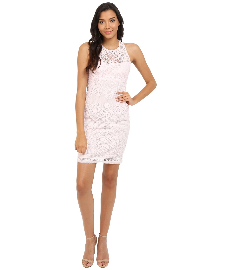 Nanette Lepore Antique Lace Shift Pearl Pink Dress