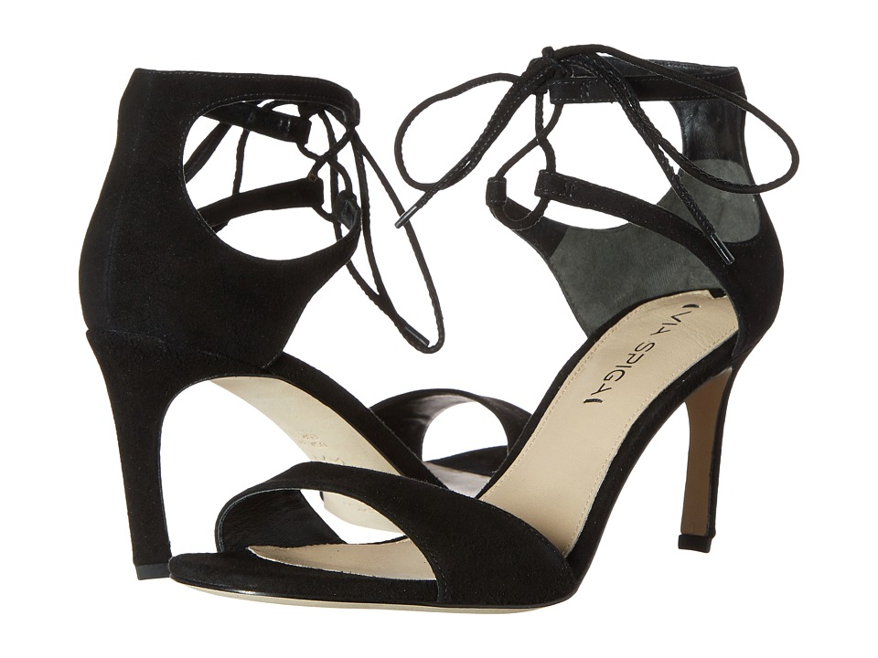 Via Spiga Skylar (Black Kid Suede Leather) High Heels