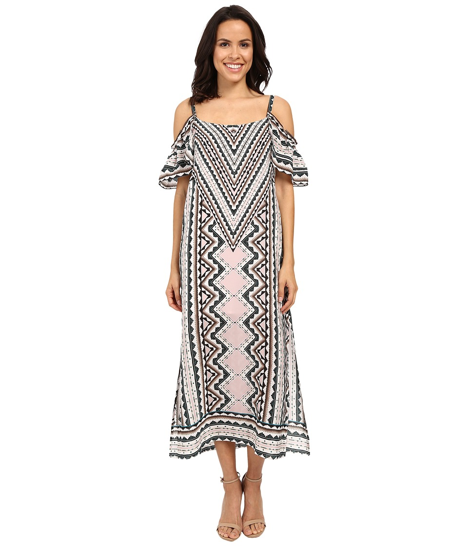 Nanette Lepore Havana Nights Maxi Dress (Natural Multi) Women