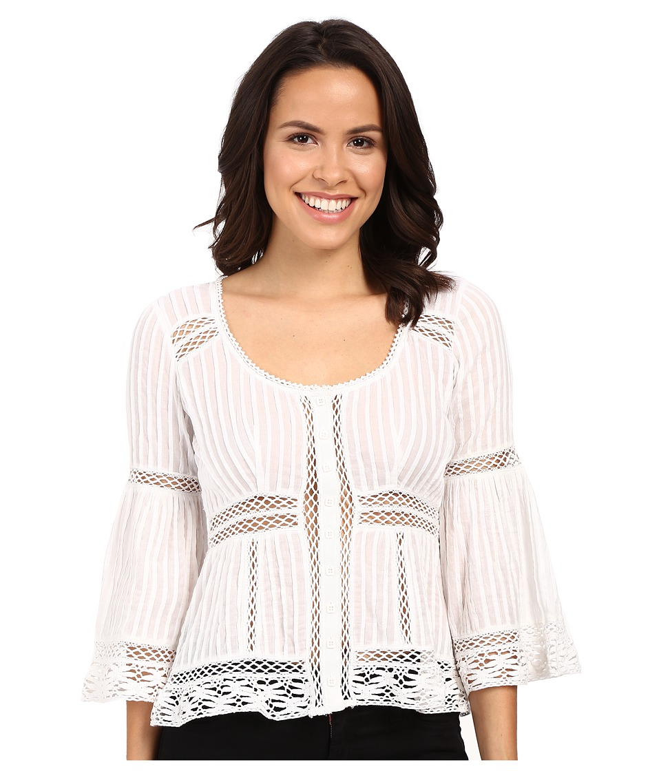 Nanette Lepore - Palm Pleat Top (Ivory) Women's Blouse