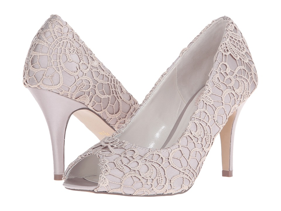 Paradox London Pink - Cosmos (Taupe Satin/Lace) Women's Shoes
