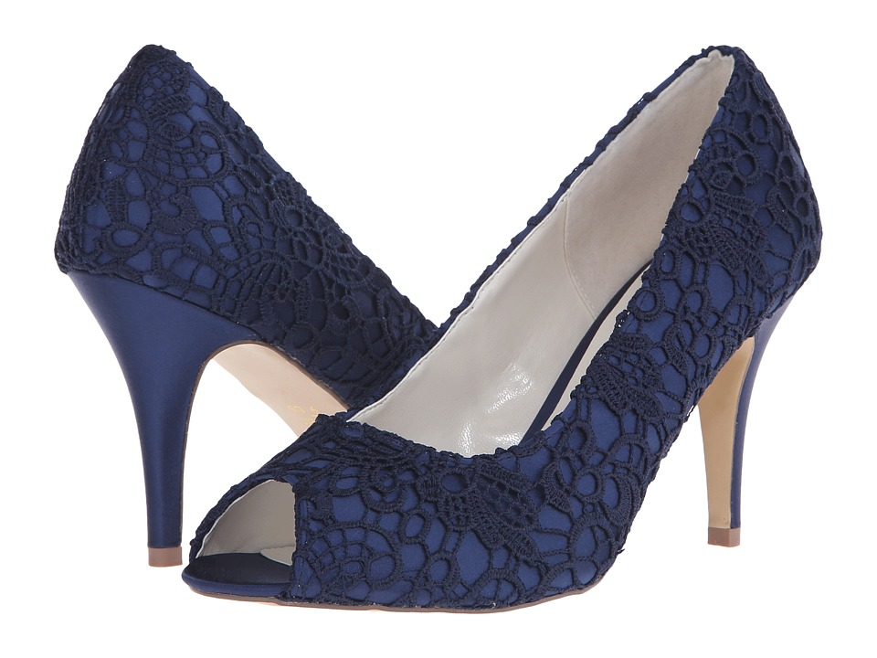 Paradox London Pink - Cosmos (Navy Satin/Lace) Women's Shoes