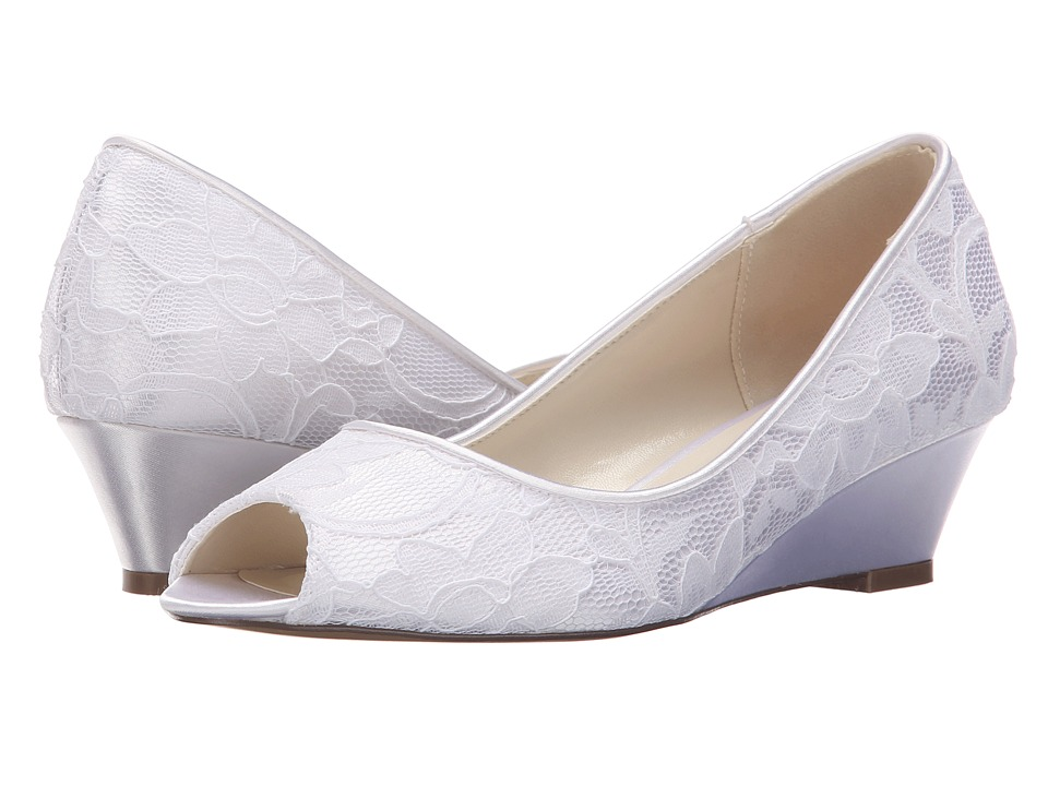 Paradox London Pink - Vera (White Dyeable Satin/Lace) Women's Shoes