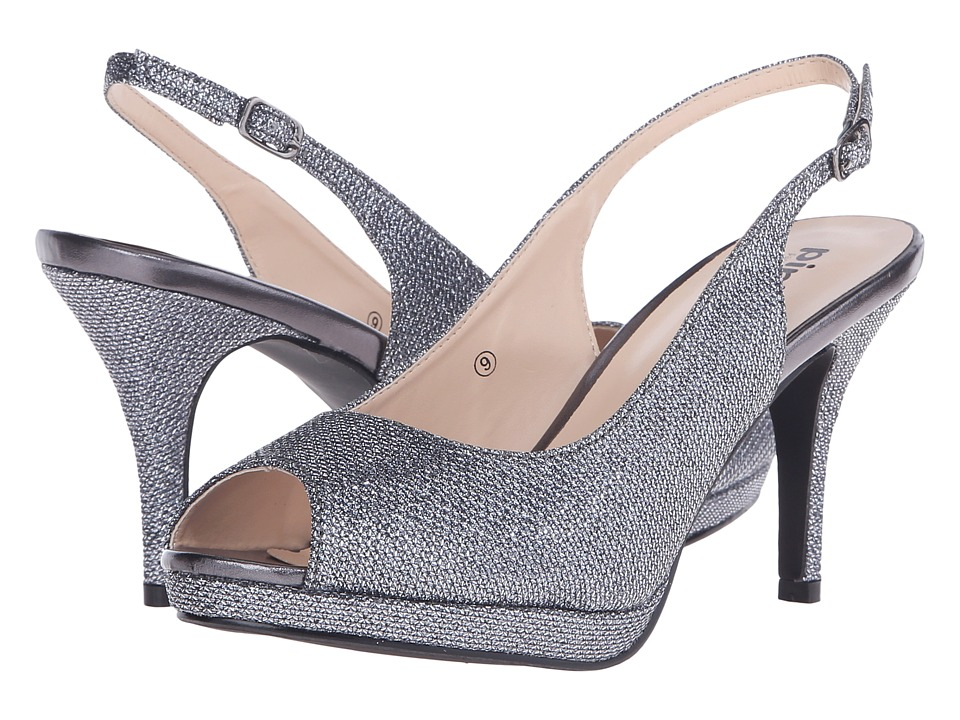 Paradox London Pink - Fiesta (Pewter Glitter Mesh) Women's Shoes