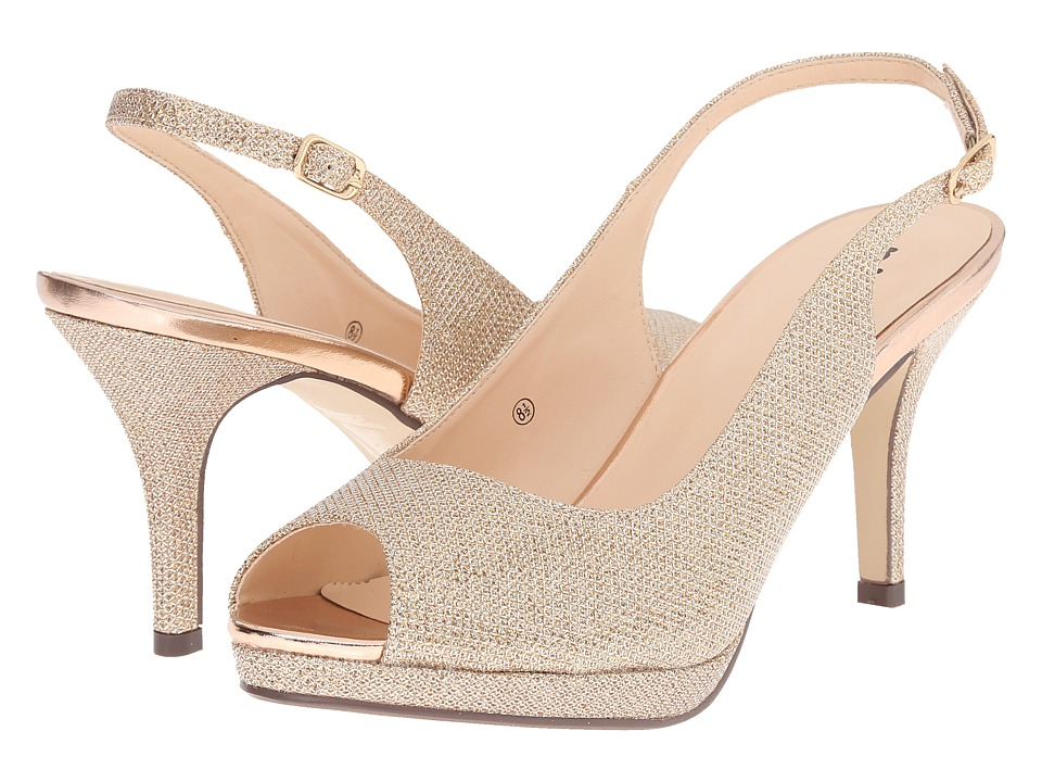 Paradox London Pink - Fiesta (Champagne Glitter Mesh) Women's Shoes