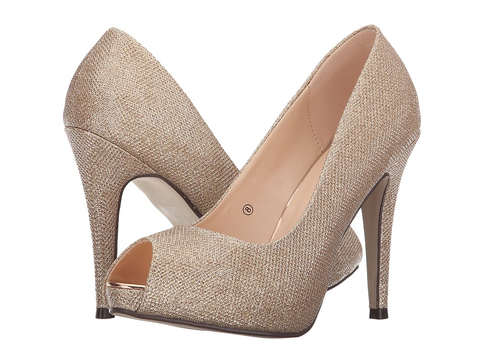 Paradox London Pink - Yummy (Champagne Glitter Mesh) Women's Shoes
