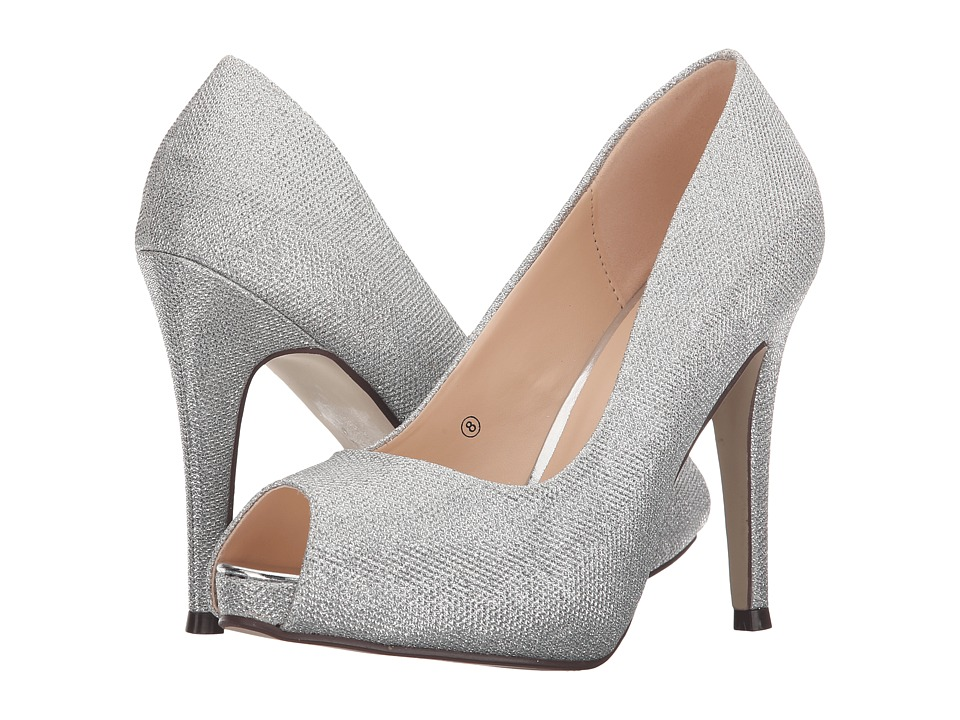 Paradox London Pink - Yummy (Silver Glitter Mesh) Women's Shoes