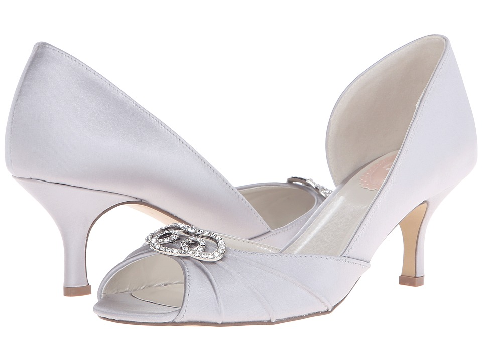 Paradox London Pink - Amelia (Silver Satin) Women's Shoes