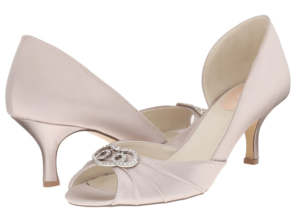 Paradox London Pink - Amelia (Taupe Satin) Women's Shoes